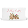 Winnie's Woodland Friends Deer Personalized Fitted Changing Pad Cover