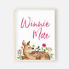 Winnie's Woodland Customized Name Digital Wall Art