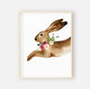 Winnie's Woodland Bunny Digital Wall Art