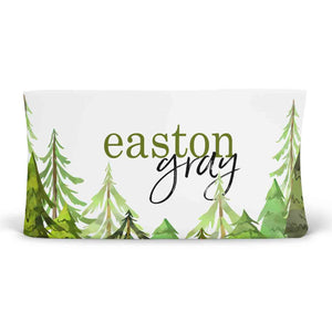 Woodland Trees Personalized Fitted Changing Pad Cover