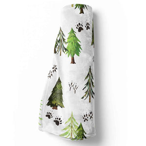 Woodland Tree Baby and Toddler Blanket for Woodland Nursery