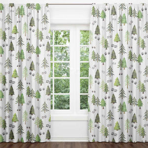 Woodland Trees Blackout Curtain Panels (Set of 2)