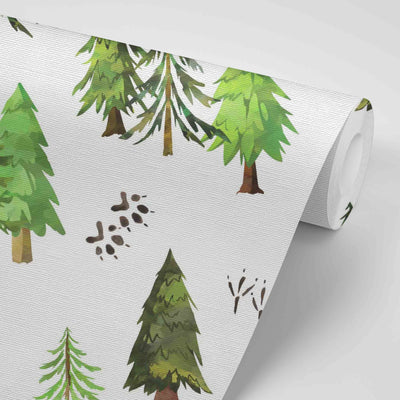 Woodland Trees Removable Wallpaper