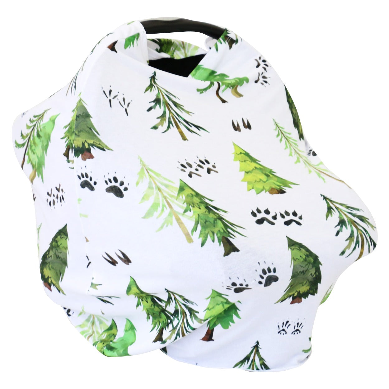Woodland Trees Multi Use Stretchy Car Seat Cover Caden Lane