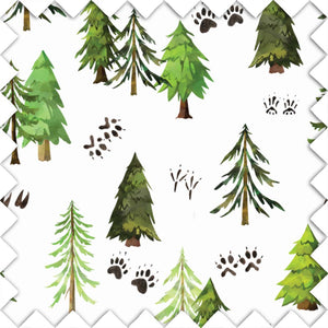 Watercolor Woodland Tree Fabric Swatch for your nursery