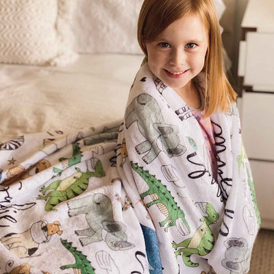 funny kids blankets with masks and animals