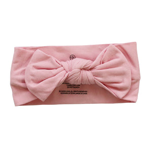 ballet pink bow headband wrap