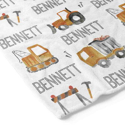 Little Digger Personalized Toddler Blanket