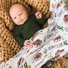 bison and cactus personalized swaddle