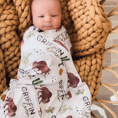 buffalo personalized swaddle