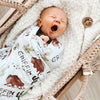 bison personalized swaddle baby boy
