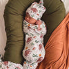 bison and cactus newborn stretchy swaddle