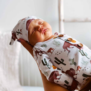 bison print newborn take me home outfit