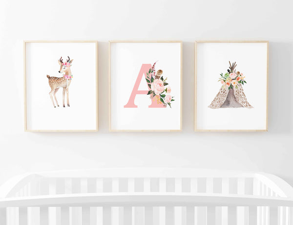 art bundle blakely woodland deer wall art