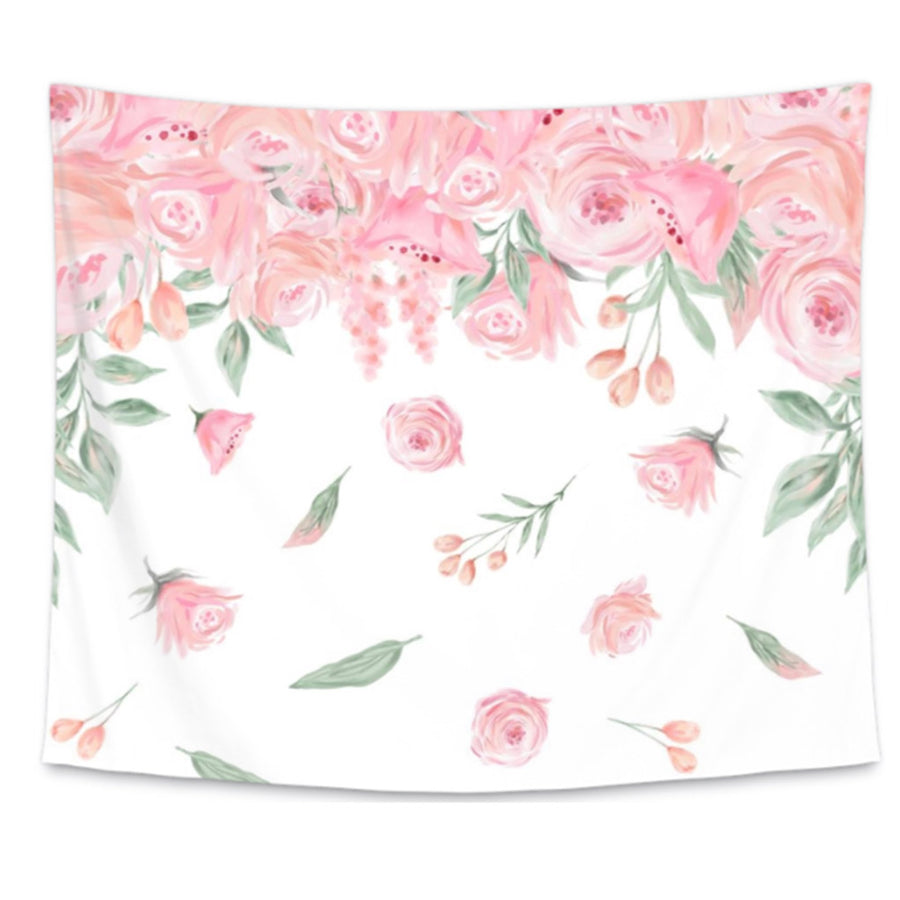 Baby Girl Floral Nursery Bedding Accessories Caden Lane Vintage Story Flower Shabby Rose 1 Blush Wall Tapestry For Girls Or Room