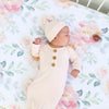 blush bamboo knotted gown for newborn