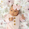 Solid Blush Bamboo Baby Knot Gown & Hat