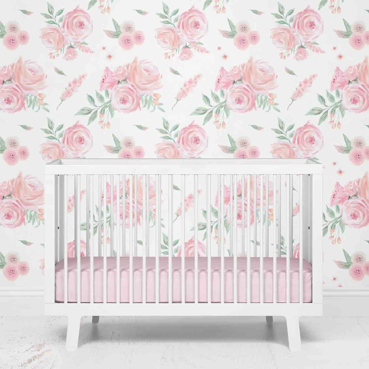 Blush Rose Floral Removable Wallpaper Caden Lane