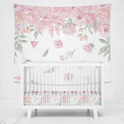 Blush Rose Wall Tapestry