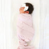 blush personalized swaddle with baby name