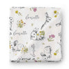 Bree's Bunny Personalized Baby Name Swaddle Blanket