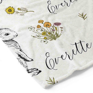 Bree's Bunny Personalized Toddler Blanket