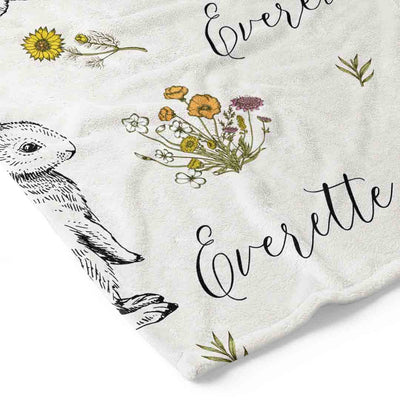 Bree's Bunny Personalized stroller Blanket