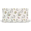 bree's bunny garden knit changing pad cover