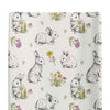 bree's bunny garden stretchy knit changing pad cover