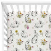 bree's bunny garden stretchy knit crib sheet