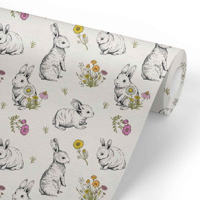 bree's bunny garden removable wallpaper