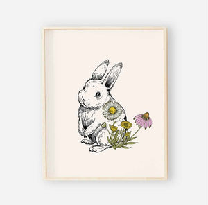 bree's bunny garden digital wall art