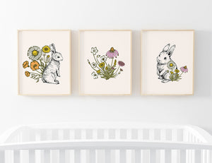 bree's bunny garden bundled digital wall art