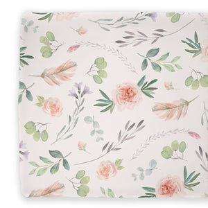 changing pad cover britts blush boho garden