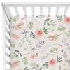 britts blush boho garden fitted crib sheet