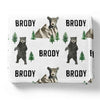 Brody's Bear & Mountain Personalized Toddler Blanket