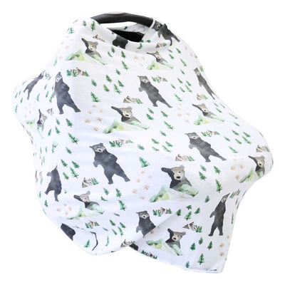 Brody's Bear & Mountain Adventure Multi-Use Stretchy Car Seat & Nursing Cover~