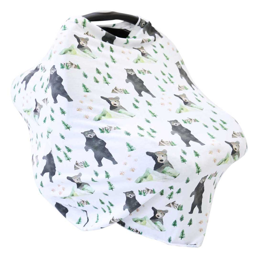 Brodys Bear Mountain Adventure Multi Use Stretchy Car Seat Nursing Cover