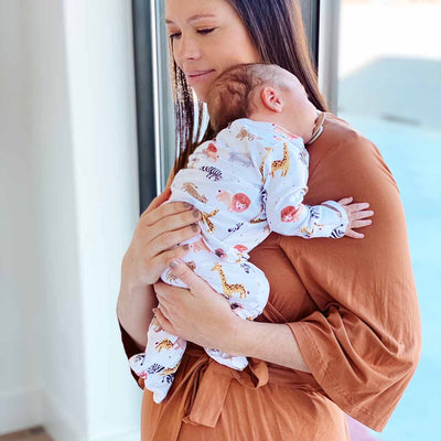 camel rust maternity robe