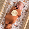 camel rust color solid swaddle