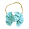 capri blue bow headband newborn