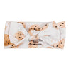 cookie print knotted headwrap
