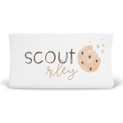 Cookie Crumble Personalized Changing Pad Cover