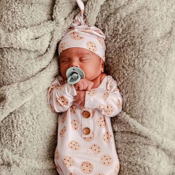cookie print newborn outfit