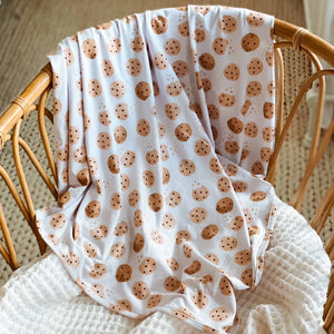 cookie print swaddle blanket