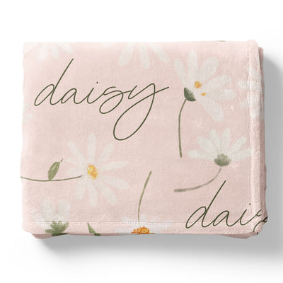 sweet daisy personalized stroller blanket