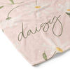 Sweet Daisy in Blush Personalized Toddler Blanket
