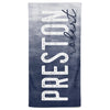 Dark Navy Ombre Personalized Kids Beach Towel