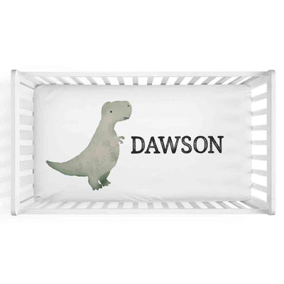 Dawson's Dinosaur Personalized Crib Sheet