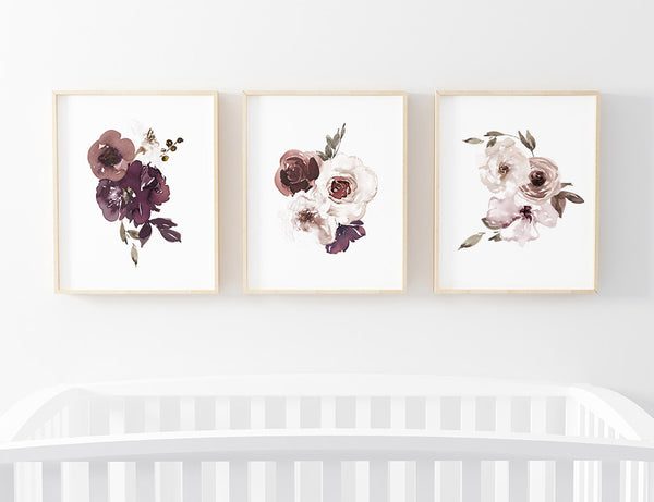 Demi Dusty Purple Bundled Art Prints